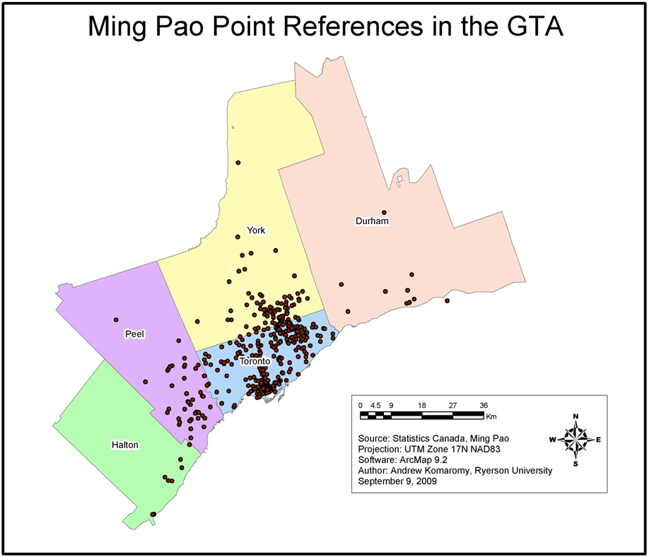 Ming Pao Point Reference in the GTA