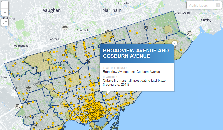Maps Toronto.How Is Your Toronto Neighbourhood Portrayed In The News Check It